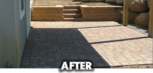 ... During Paver Patio: After
